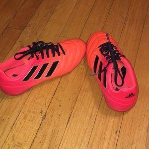 Boys Adidas indoor soccer shoes